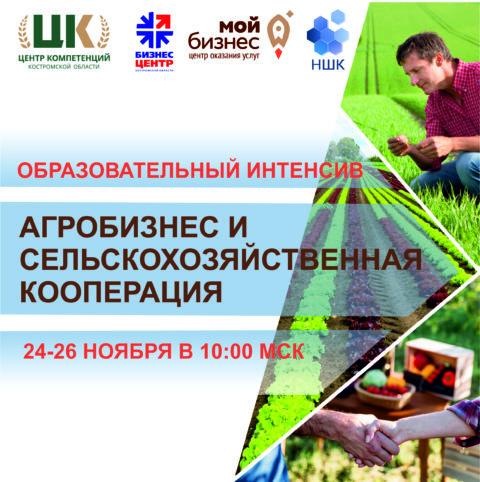 Серия вебинаров по агробизнесу и сельскохозяйственной кооперации для фермеров и предпринимателей Костромской области